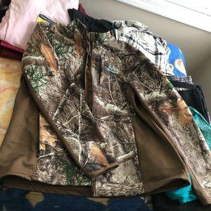 Real tree soft shell jacket